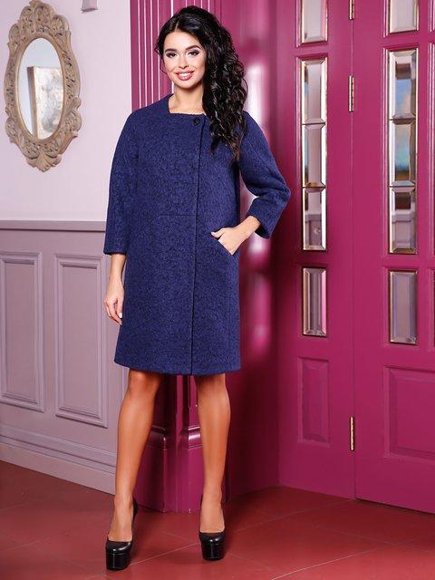 Пальто темно-синее Favoritti 3974713
