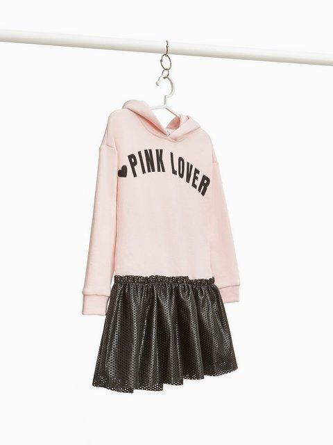 Платье розово-черное с надписью Oviesse 3961901