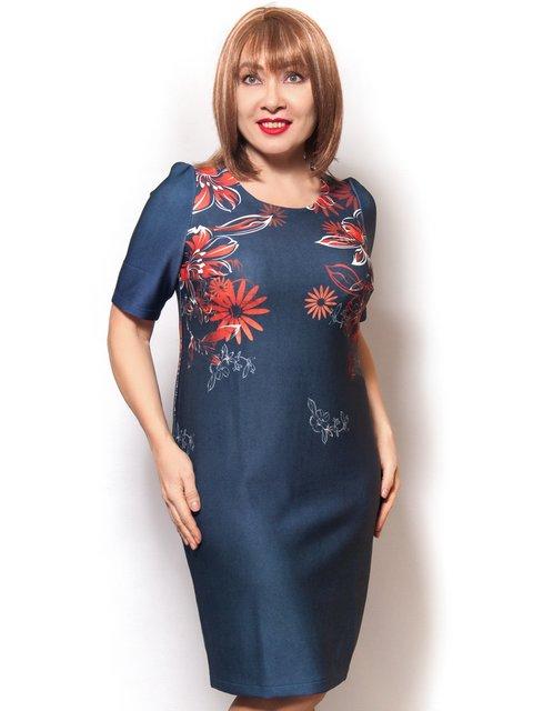 Платье синее с цветочным принтом LibeAmore 3978838