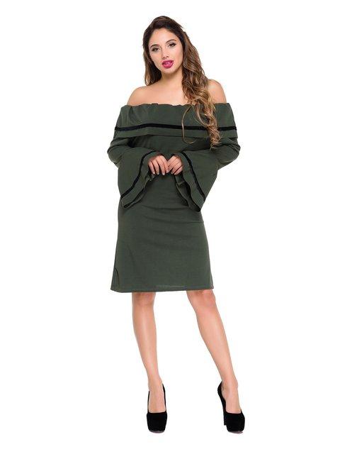 Сукня кольору хакі Magnet 3977445