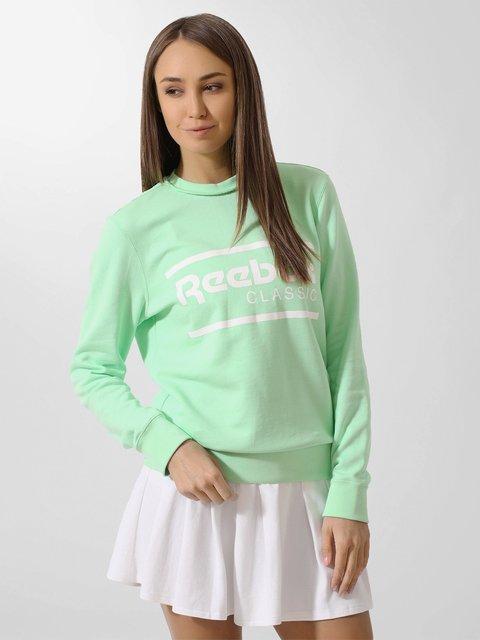 Джемпер зеленый Reebok 2979412