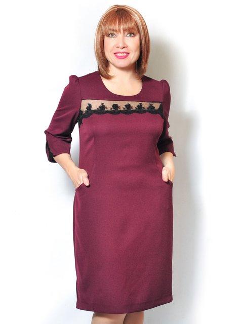 Платье бордовое LibeAmore 3992116
