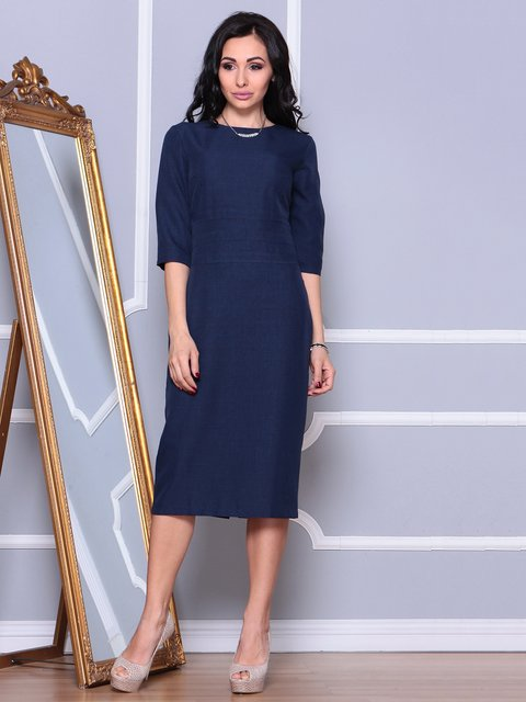 Платье темно-синее Maurini 3993184