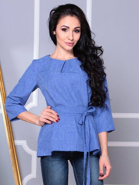 Блуза синяя Rebecca Tatti 3993187