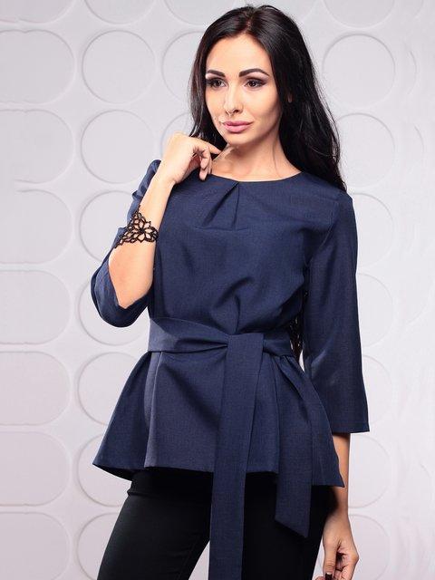Блуза темно-синя Rebecca Tatti 3993188