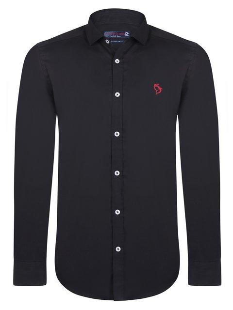 Рубашка черная Giorgio di Mare 3812832