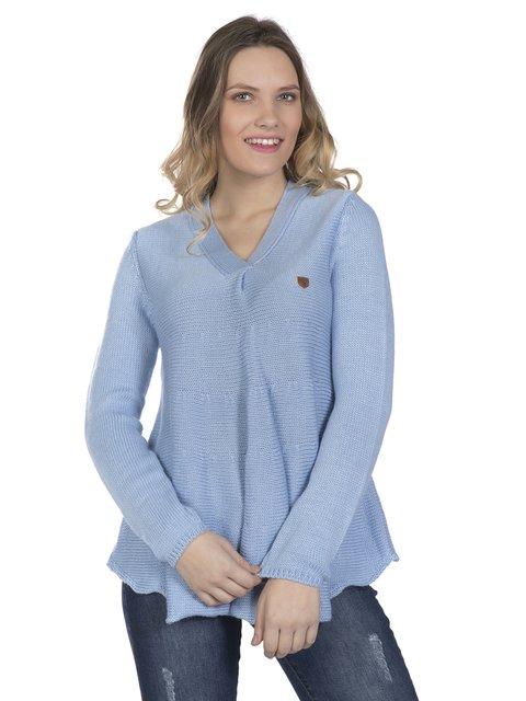 Пуловер светло-голубой Giorgio di Mare 3862485