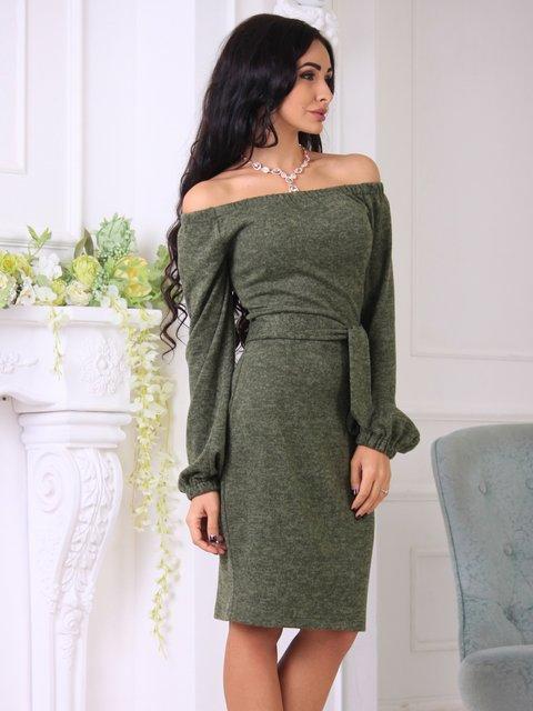 Платье цвета хаки Laura Bettini 3997276