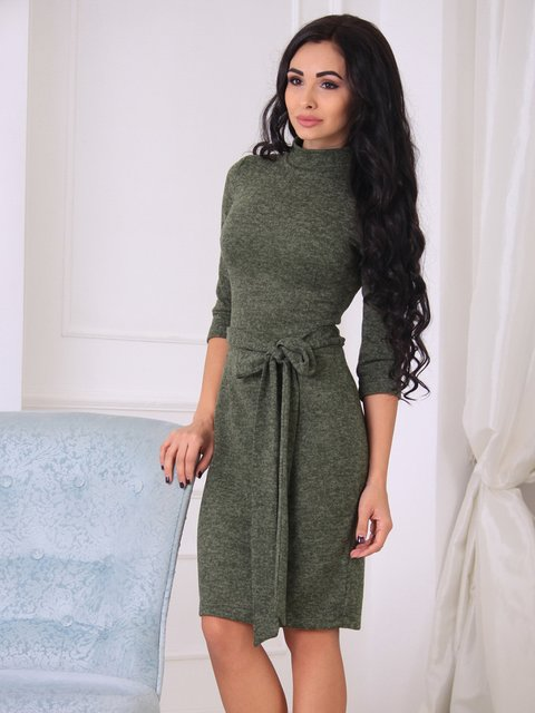 Платье цвета хаки Laura Bettini 3997335