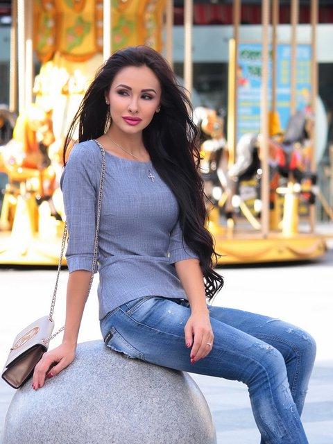 Блуза димного кольору Rebecca Tatti 3997712