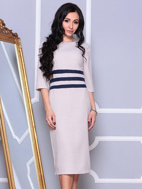 Платье бежево-синее Maurini 4002291