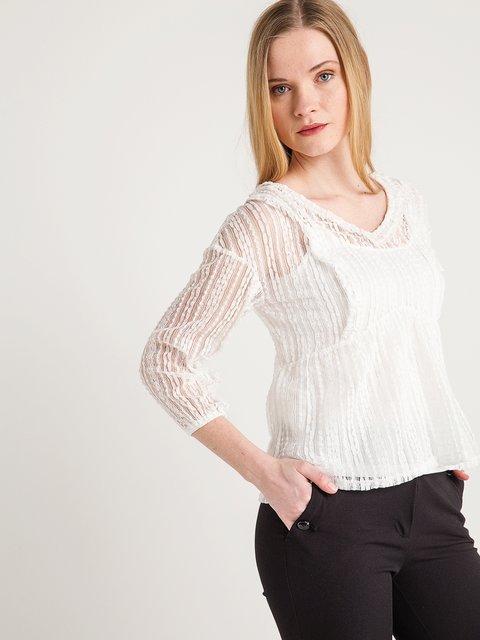 Блуза кремового кольору BGN 4012132