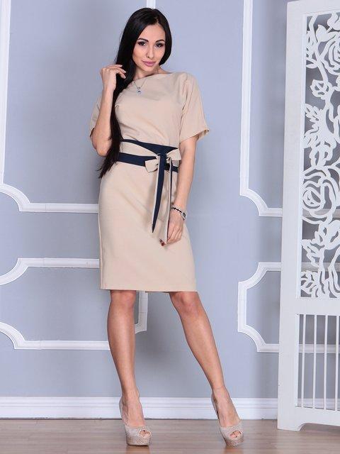 Платье бежевое Rebecca Tatti 4012383