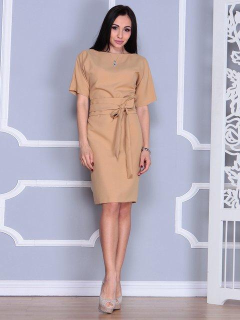 Платье цвета кофе с молоком Rebecca Tatti 4012385