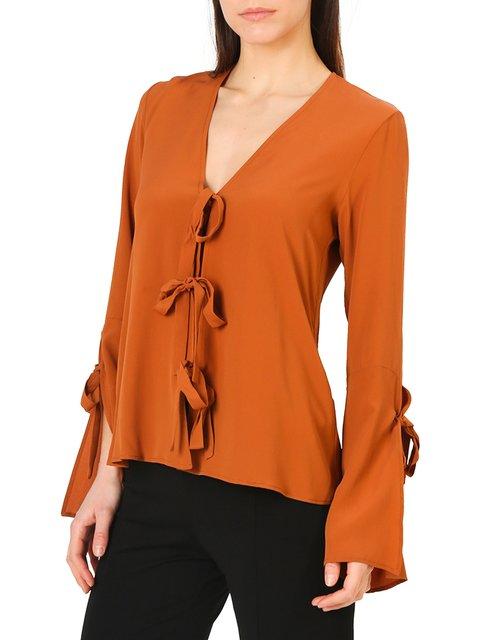 Блуза рыжего цвета Annarita N 4011281