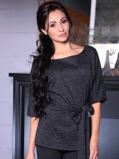 Блуза черная Laura Bettini 4007186