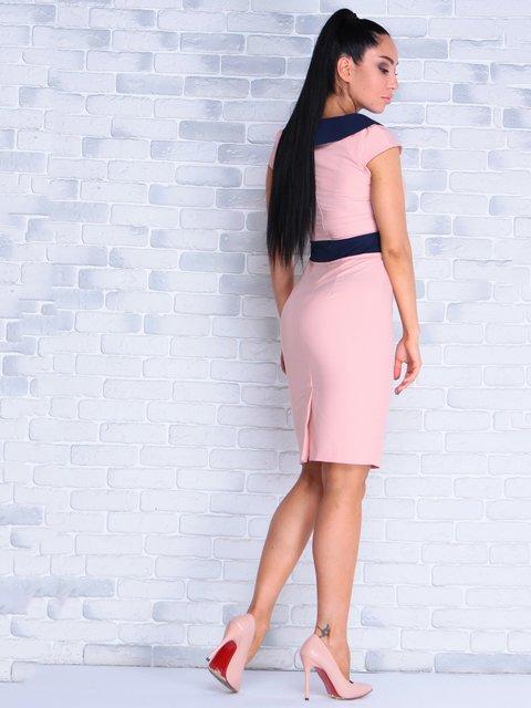 Платье персиково-синее Victoria Loks 4028143