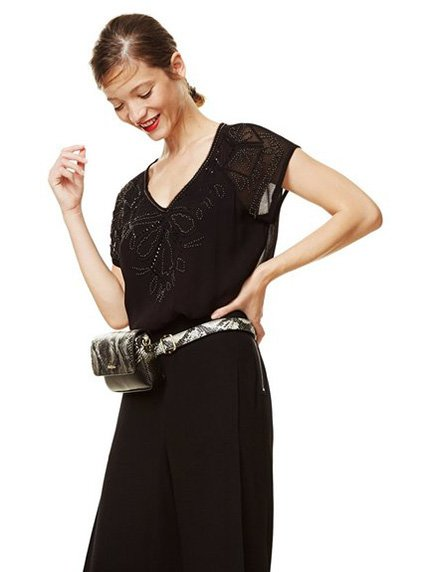 Блуза чорна Desigual 3811980