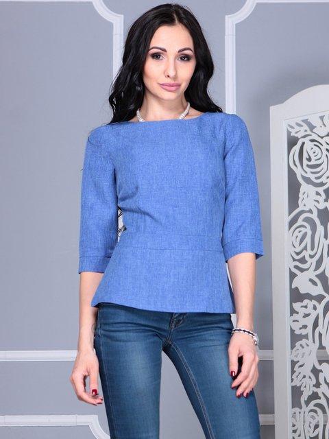 Блуза синяя Rebecca Tatti 4021147
