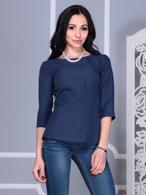 Блуза темно-синяя Rebecca Tatti 4021148