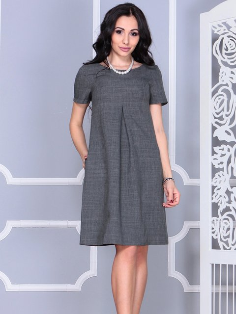 Сукня графітового кольору Rebecca Tatti 4021162