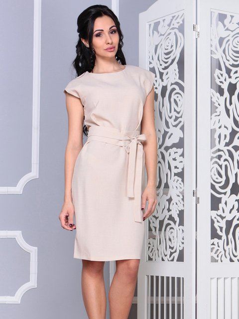 Платье бежевое Laura Bettini 4028051