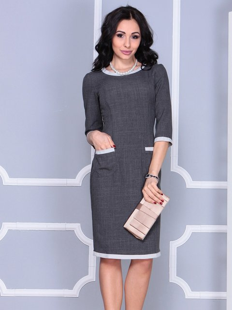 Сукня графітового кольору Laura Bettini 4028062