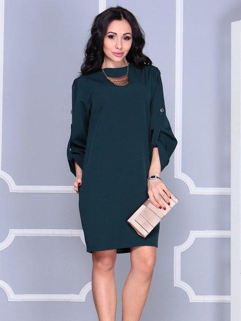Платье темно-изумрудное Dioni 4042179