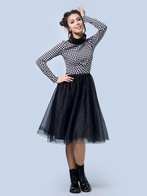 Платье черное в гусиную лапку AGATA WEBERS 4043559