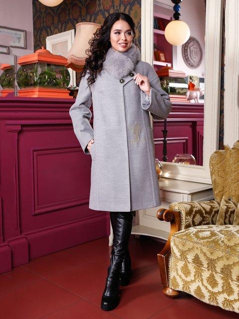 Пальто сіре Favoritti 4052243