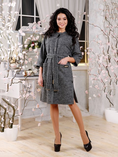Пальто сіре Favoritti 4052472