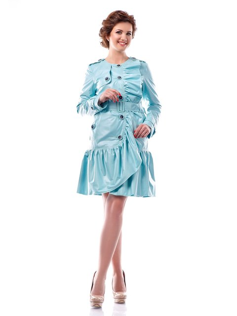 Плащ светло-голубой Favoritti 4052476
