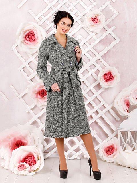 Пальто темно-сіре Favoritti 4052510