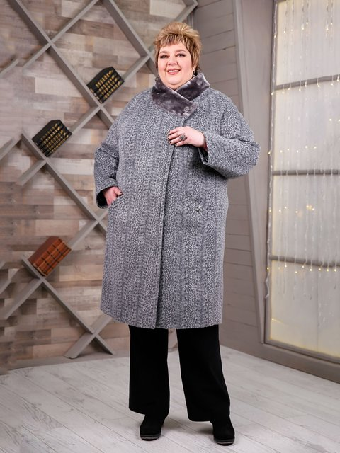 Пальто сіре Favoritti 4052518