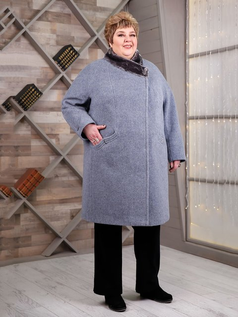 Пальто голубое Favoritti 4052520