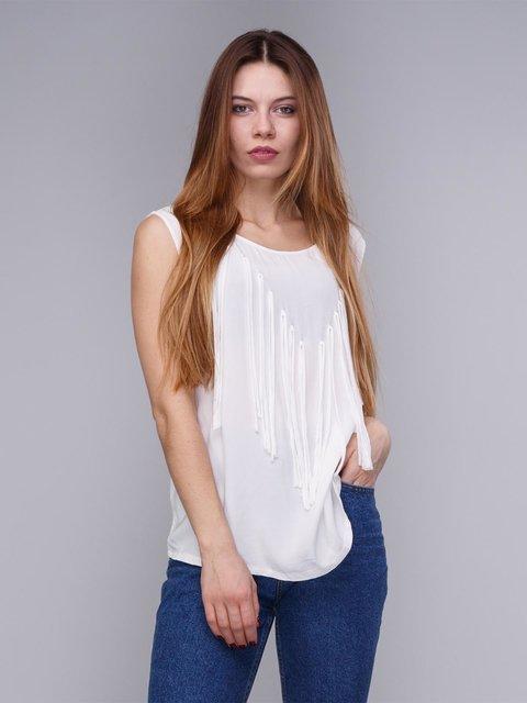 Блуза біла з бахромою Springfield 1899235