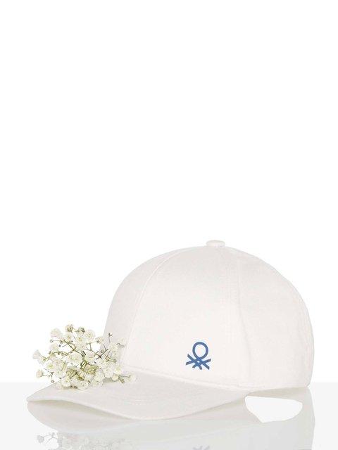 Бейсболка белая Benetton 3986726