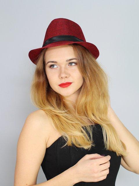 Шляпа красная Fashion Look 2436575