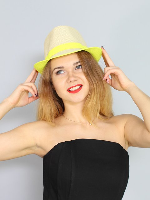 Шляпа бежевая Fashion Look 3328587
