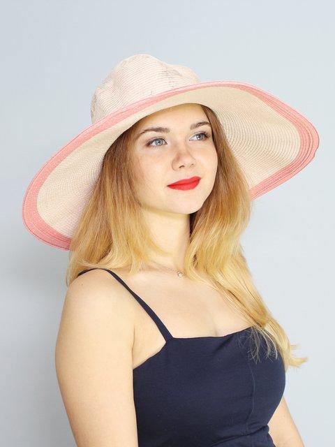 Шляпа розовая в цветочный принт Fashion Look 3469036