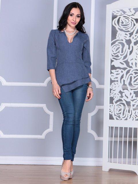 Блуза цвета темно-синий графит Laura Bettini 4058106