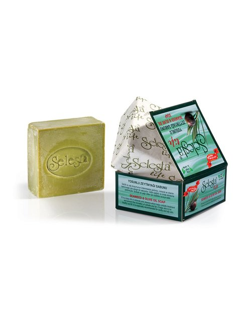 Мыло глицериновое антицеллюлитное с оливковым маслом и водорослями - ручная работа (170 г) Selesta Life 4058969