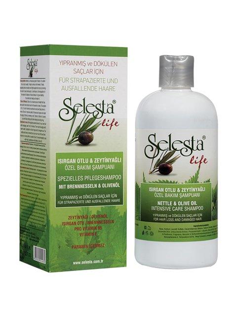 Шампунь «Интенсивный уход» с крапивой и оливковым маслом (400 мл) Selesta Life 4059002