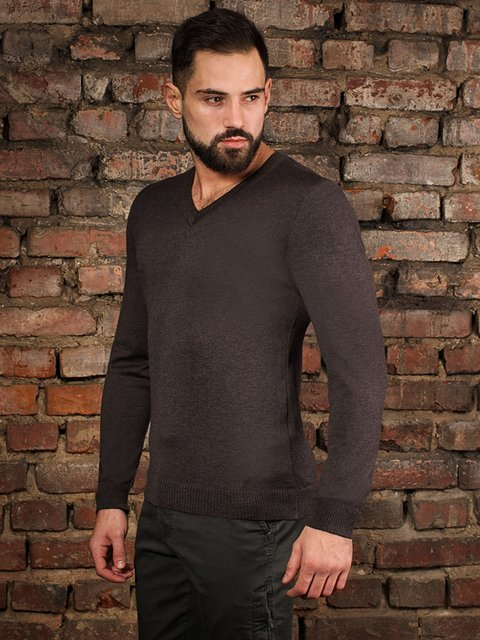 Пуловер коричневый G-Rom 4058322