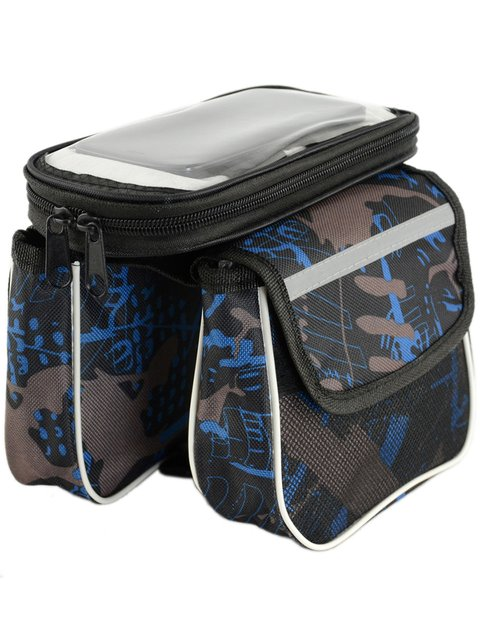 Мини-багажник для велосипеда черный в принт Traum 4059685