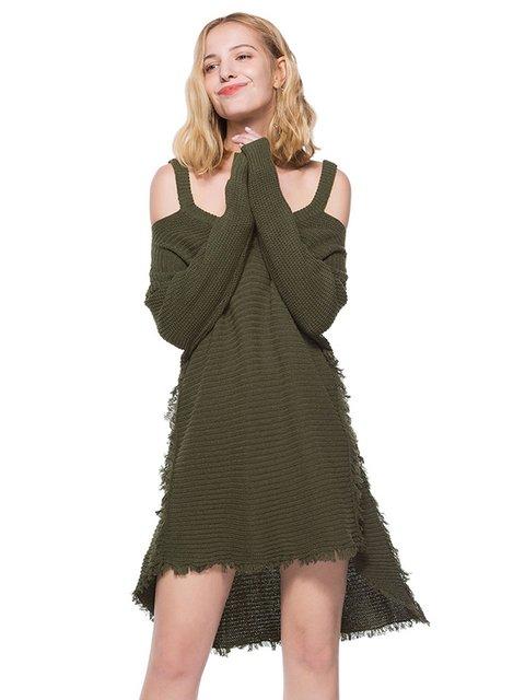 Платье цвета хаки Maxmore 4063835