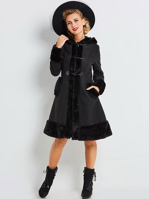 Пальто чорне Maxmore 4063965