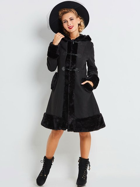 Пальто черное Maxmore 4063965