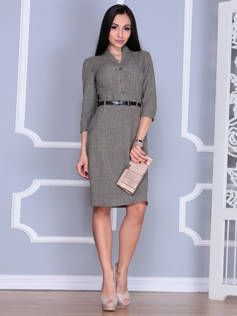Платье цвета бежевый хаки Laura Bettini 4064996