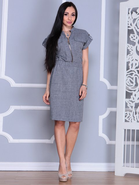 Платье дымчатого цвета Laura Bettini 4065007